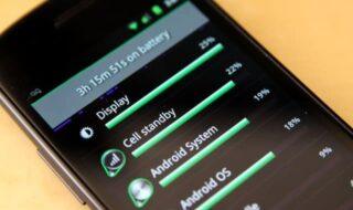 vida útil da bateria do android