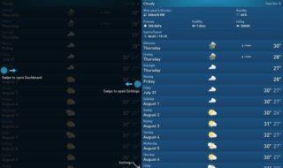 aplicativo de previsão de tempo para usar no Android