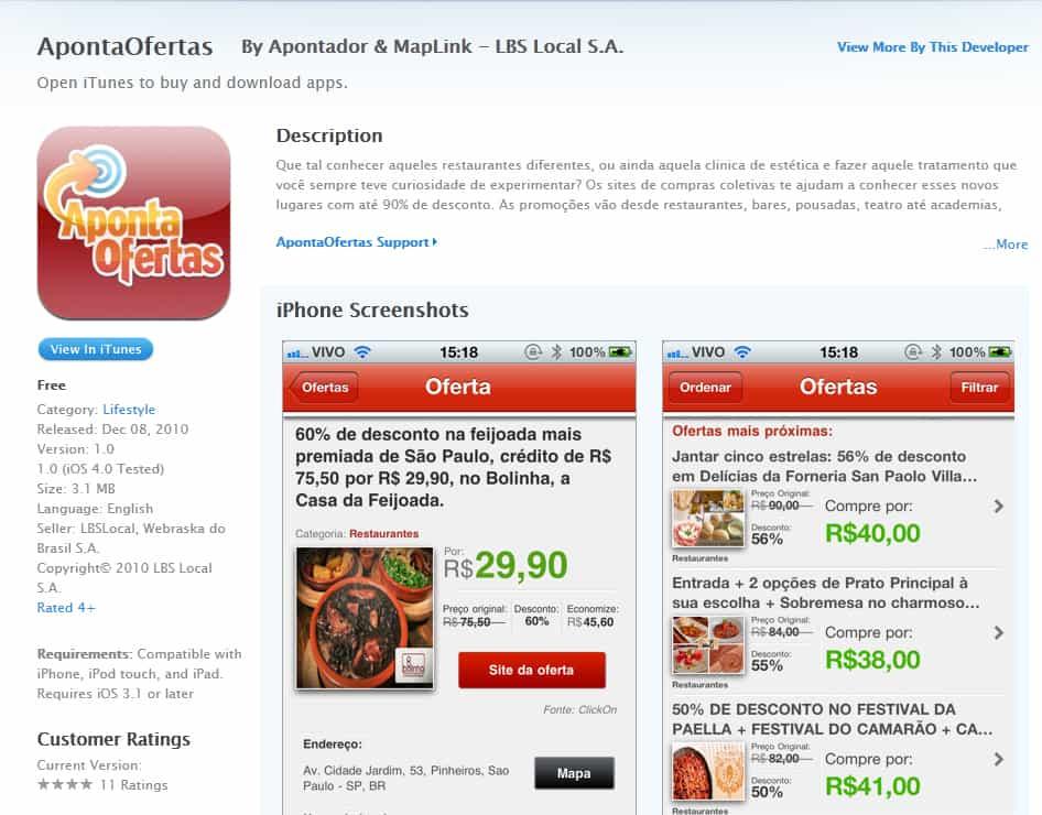 aponta ofertas app