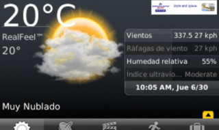 apps de previsão do tempo para Android