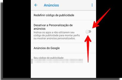 desativar notificações anuncios