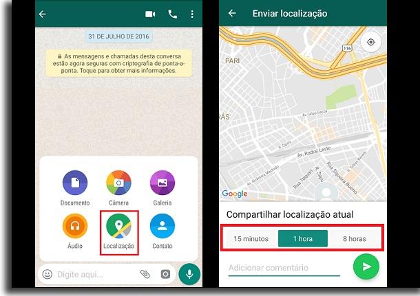 localização no app