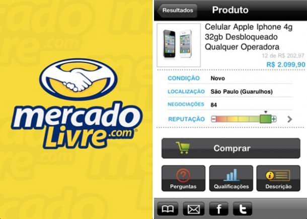 mercado livre app de compra para Android