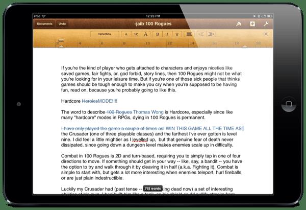 Pages para usar no ipad