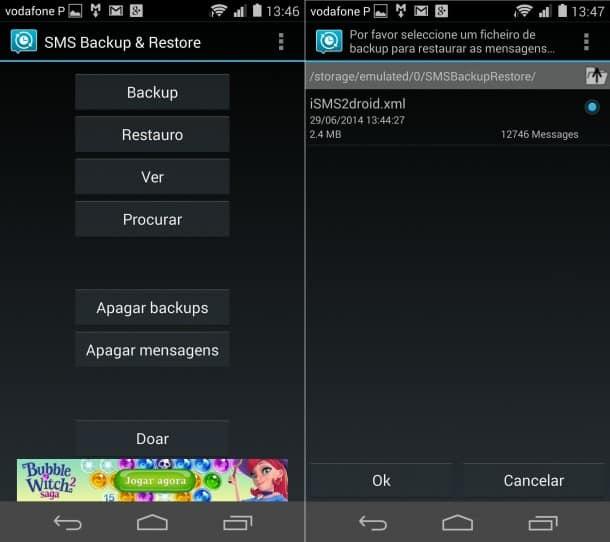 restaurar mensagens do iphone no Android