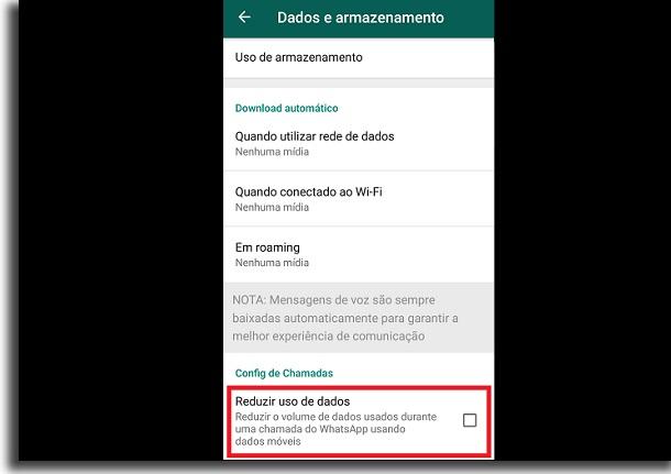 reduzir dados do whatsapp