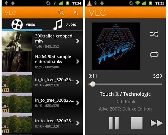 VLC Player app de android