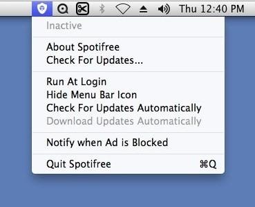 bloquear anúncios do spotify mac
