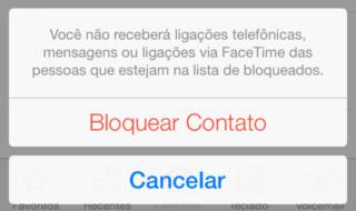 bloquear ligações no iphone