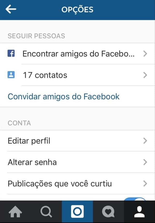 contatos do telefone no instagram