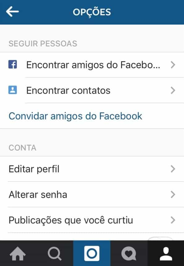 encontrar amigos do facebook no instagram