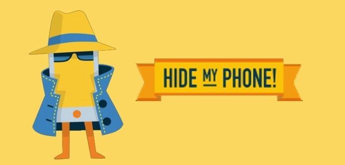 esconder número de telefone