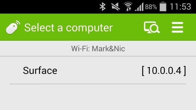 transformar o Android em um mouse