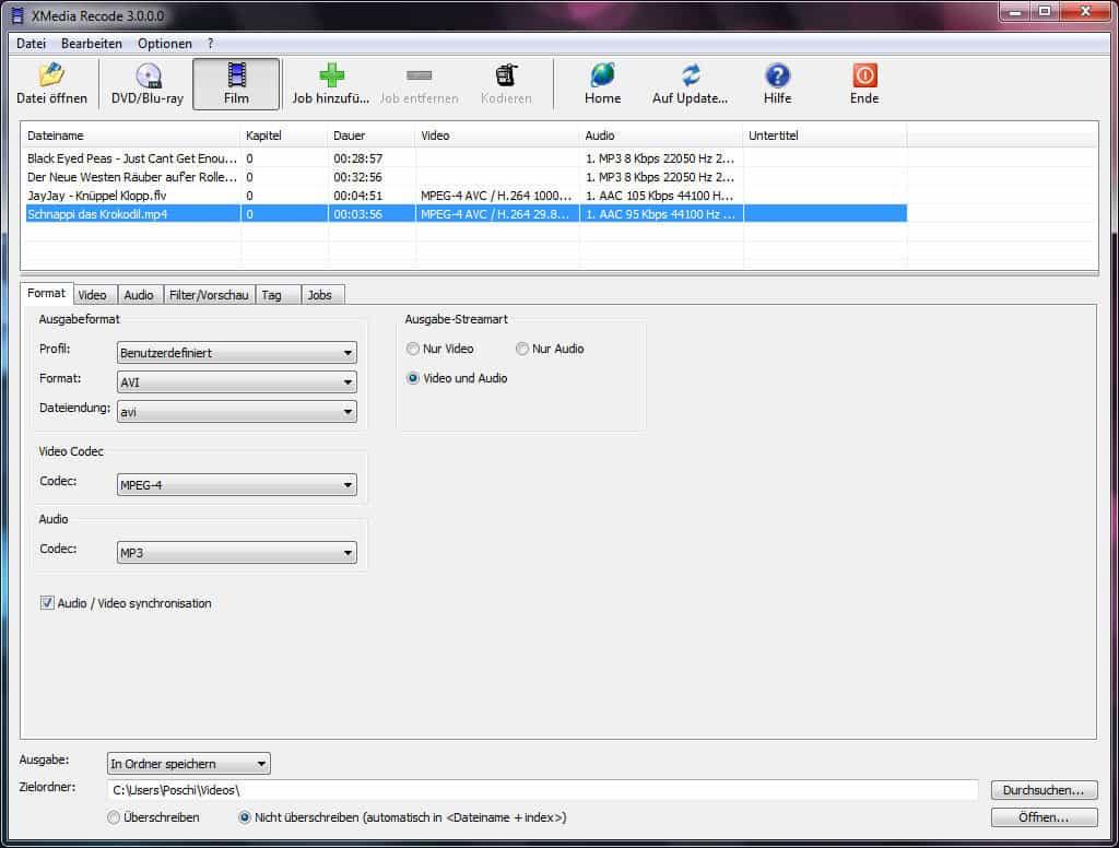 xmedia recode converter áudio