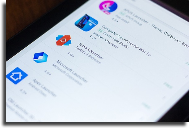 Install a new launcher app make Android faster