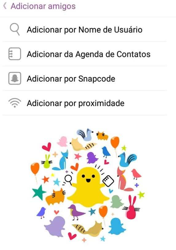 encontrar pessoas no Snapchat