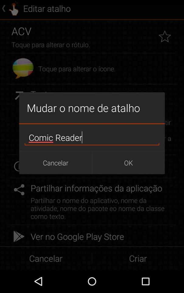 alterar aplicativos no Android