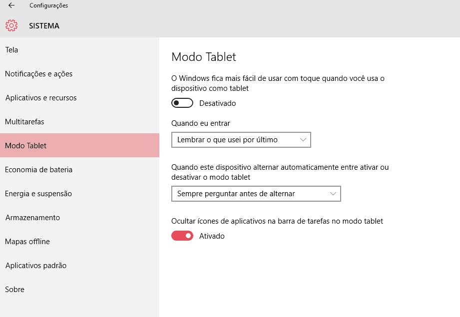 modo tablet no windows 10
