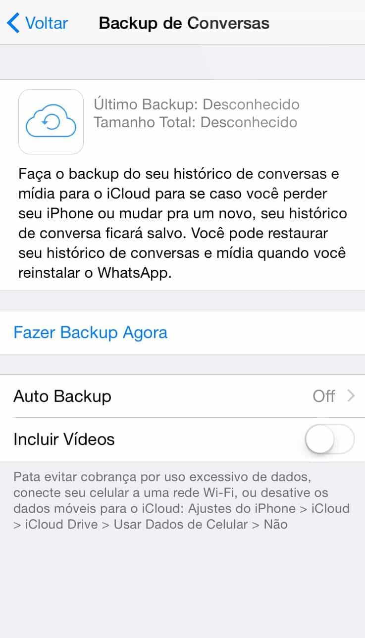 recuperar mensagens deletadas do Whatsapp backup