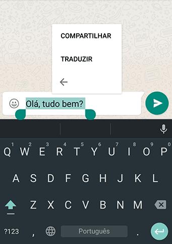 traduzir mensagens no Whatsapp