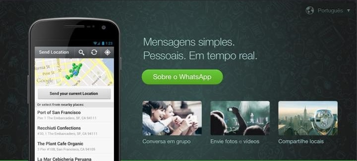 whatsapp no tablet