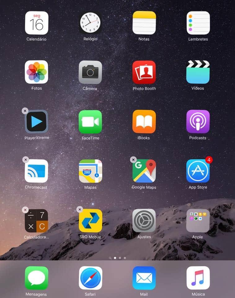 deletar apps ipad