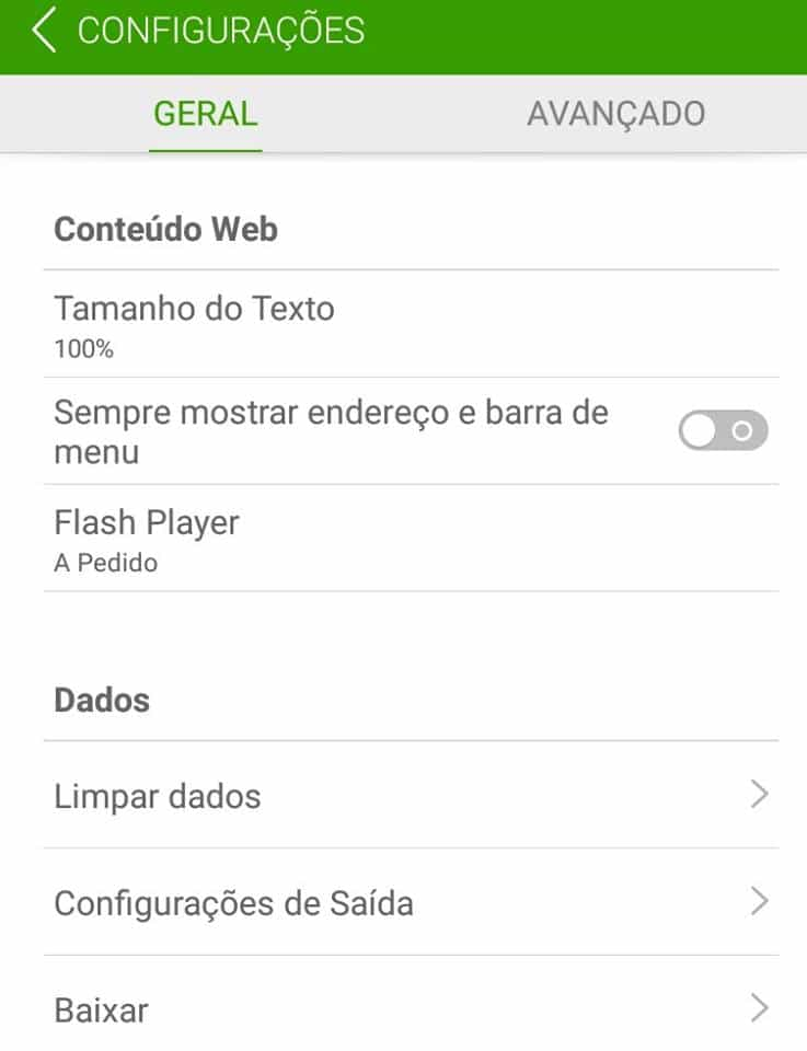 flash no Android