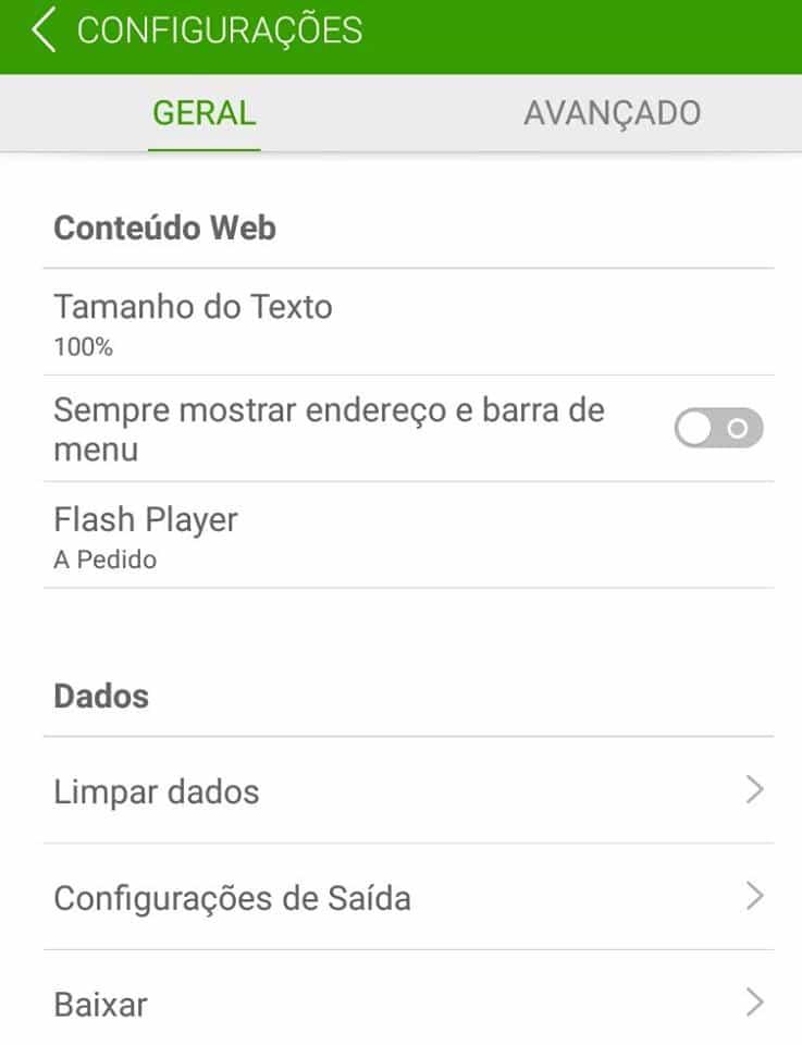 flash no Android