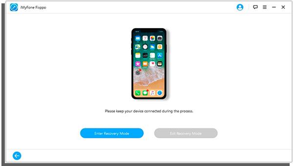 clique em enter para entrar no modo de recuperação do iPhone