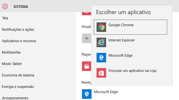 navegador padrão windows 10