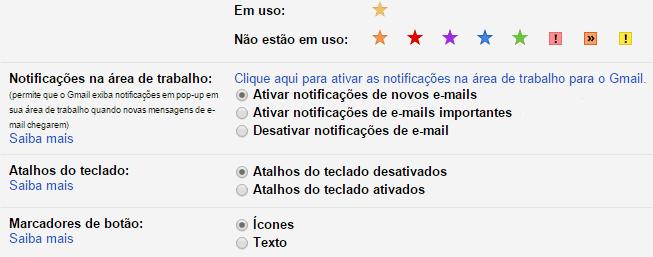 notificações do gmail