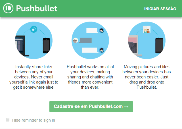 pushbullet no Chrome