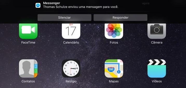 responder notificações ipad