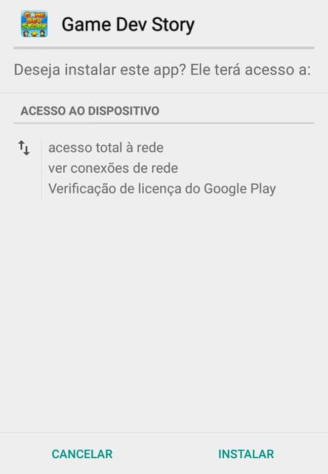 instalar apps externos no android