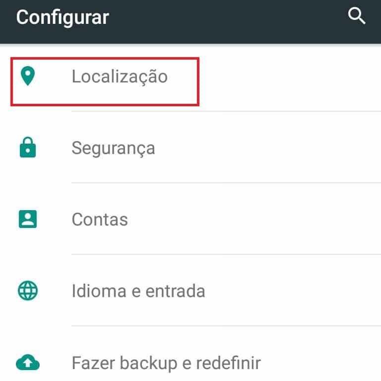 localização no Android
