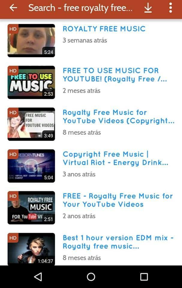 baixar áudio de vídeos do youtube busca