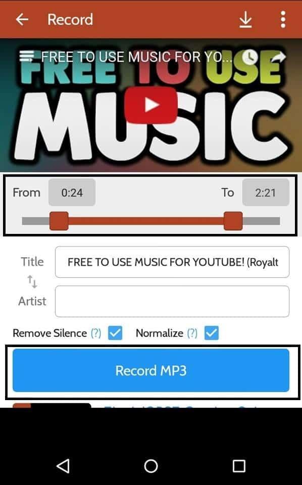 baixar áudio de vídeos do youtube trechos