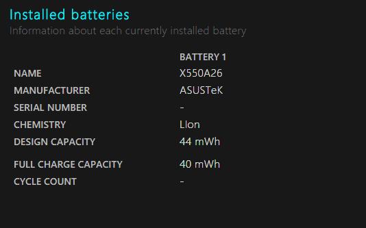 bateria do Windows