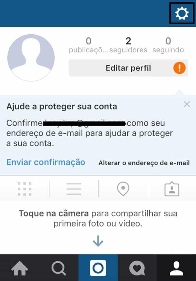 contas no instagram