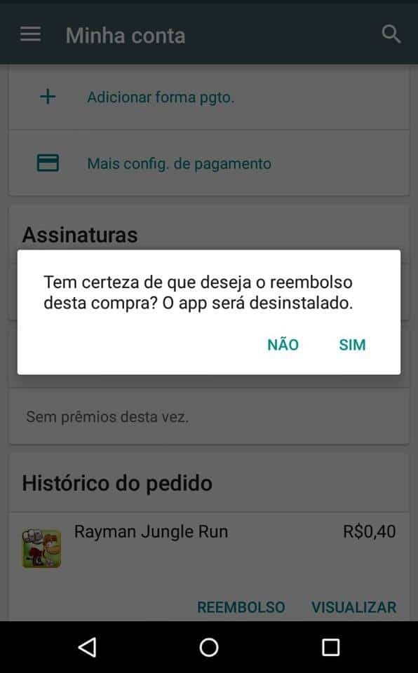 reembolso de apps Android