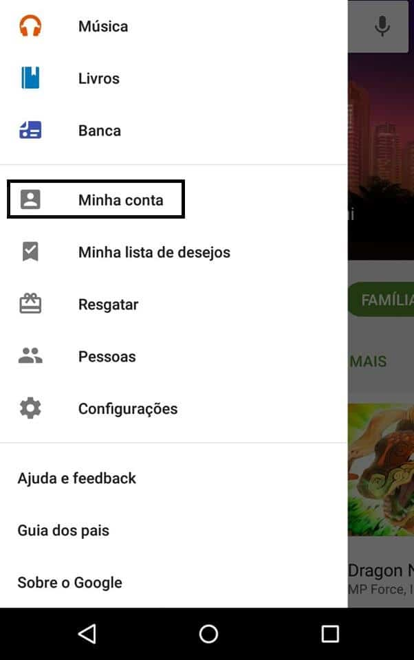 reembolso do Android