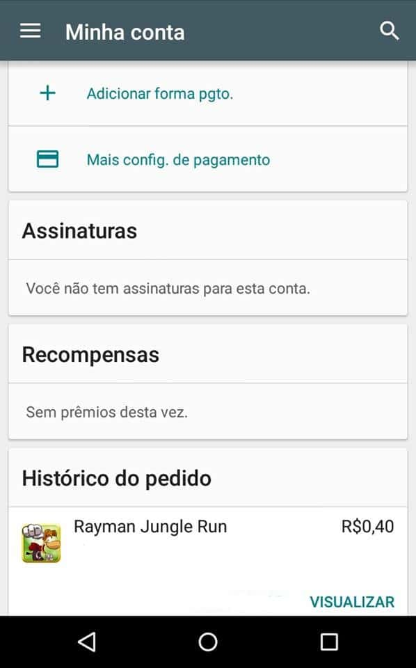 reembolso no Google play