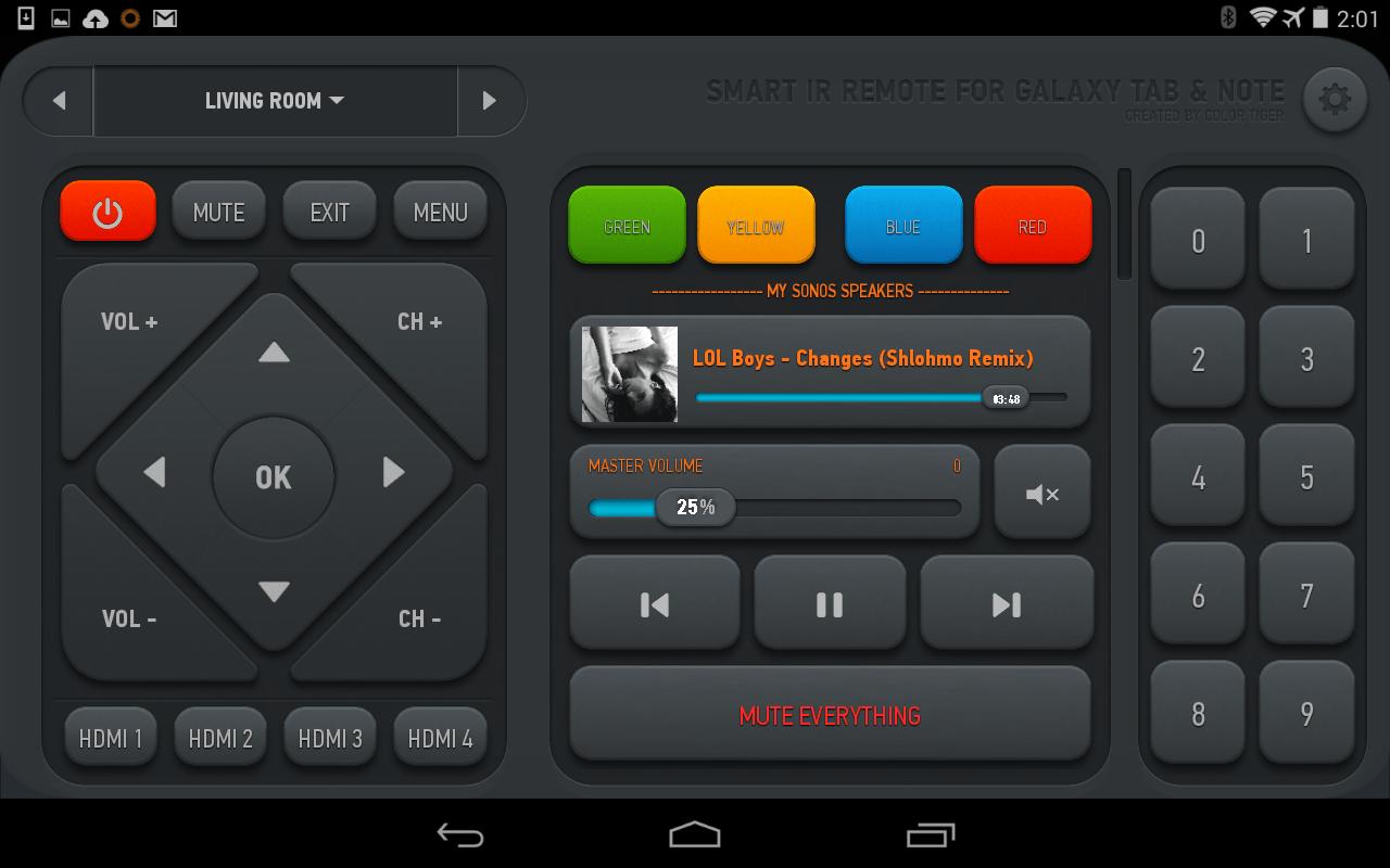 ir remote app for galaxy note 10.1