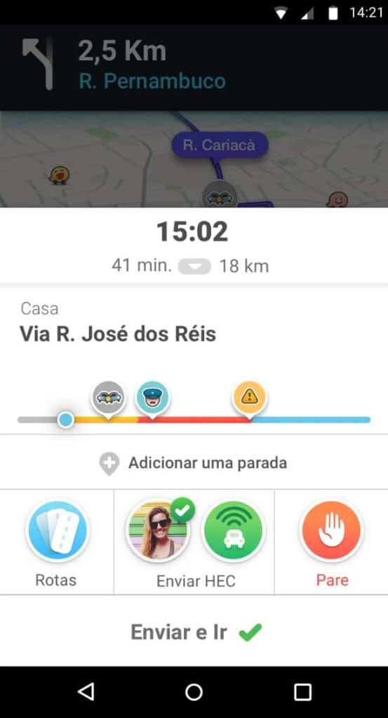 Nova versão do Waze