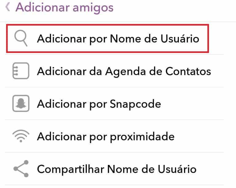 adicionar amigos no snapchat