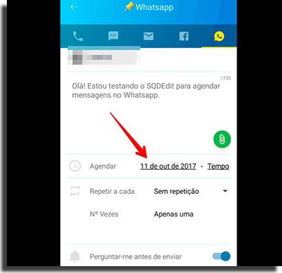 bloquear mensagens SMS agendar