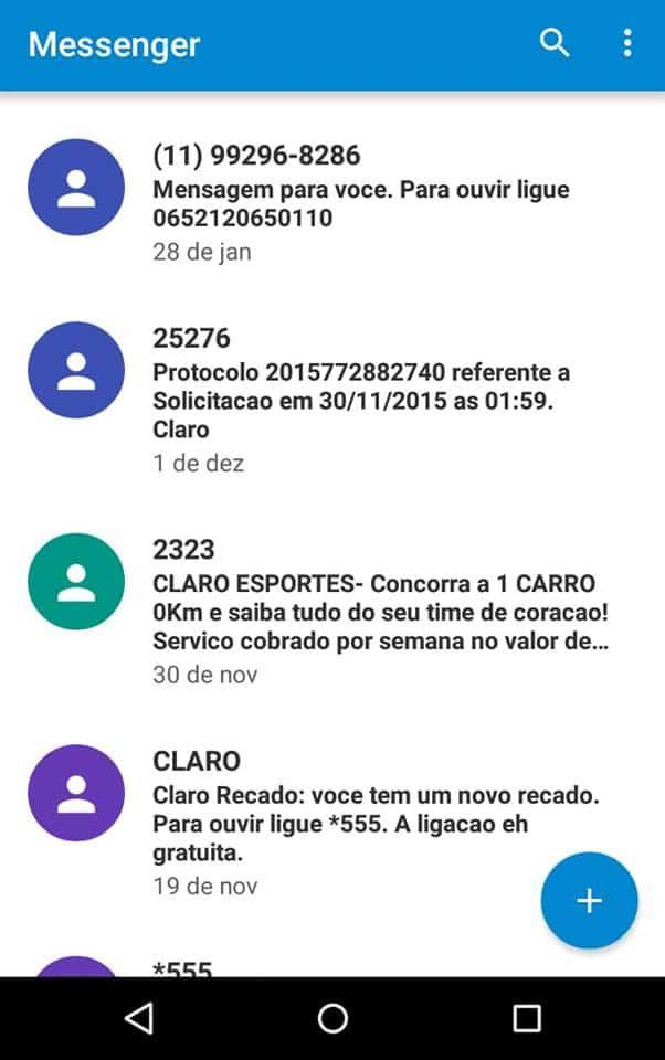 bloquear mensagens no Android