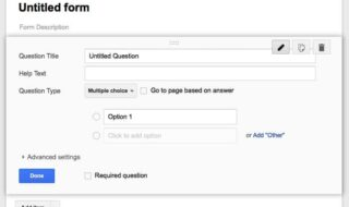 google forms screen