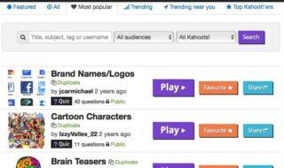 kahoot home page