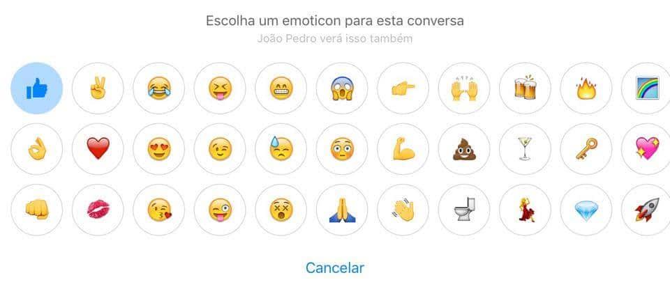 emoji do facebook messenger